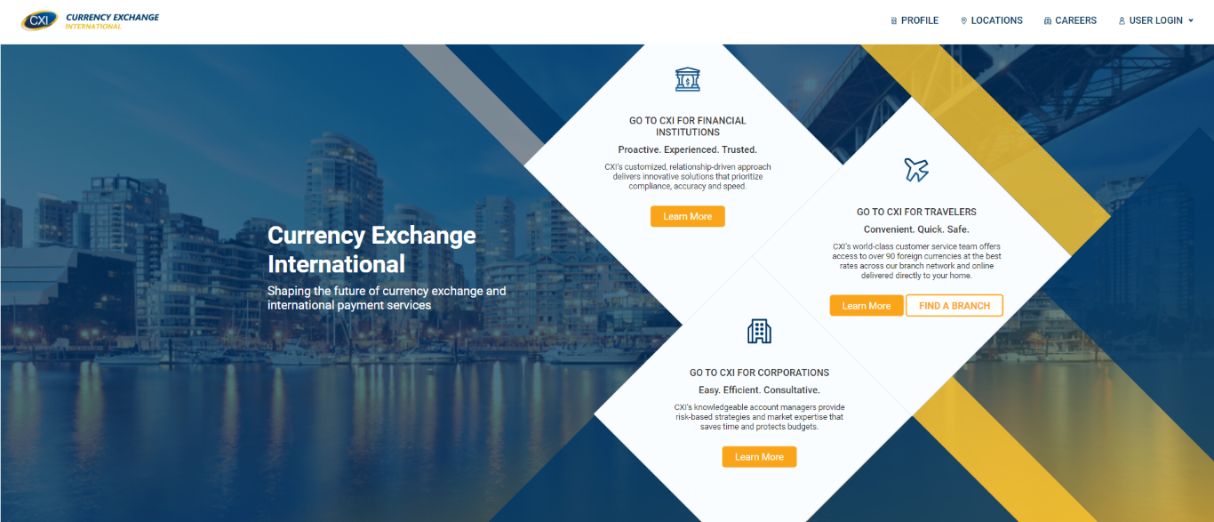 Currency Exchange International Homepage