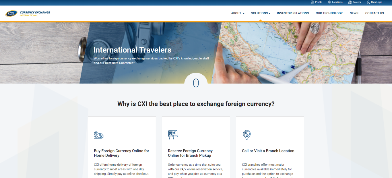 Currency Exchange International Travelers Solutions