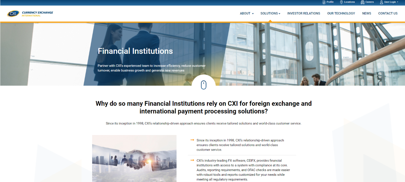 Currency Exchange International Financial Institutions Solutions