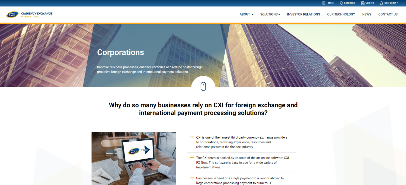 Currency Exchange International Corporations Solutions