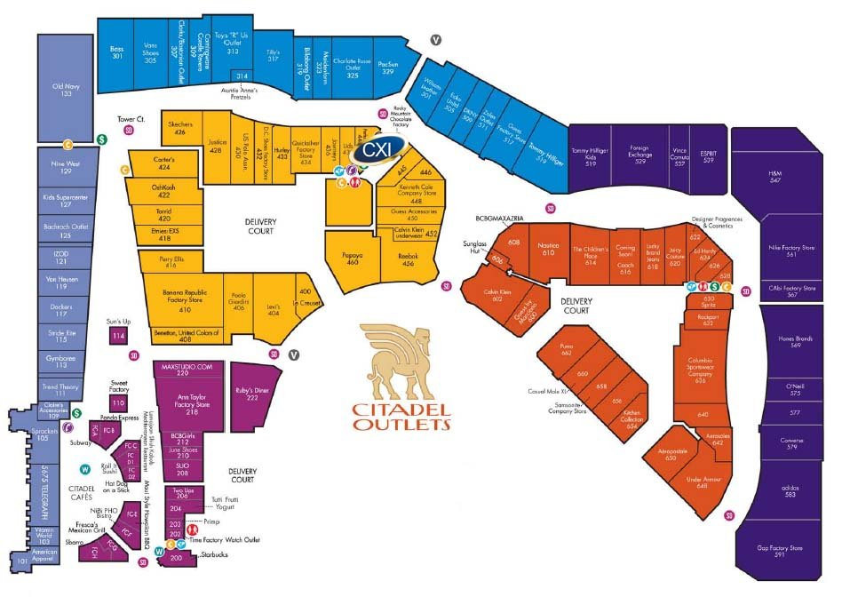 cxi citadel mall map inside