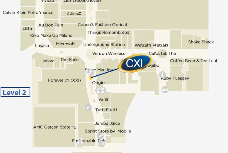 cxi garden state plaza mall map