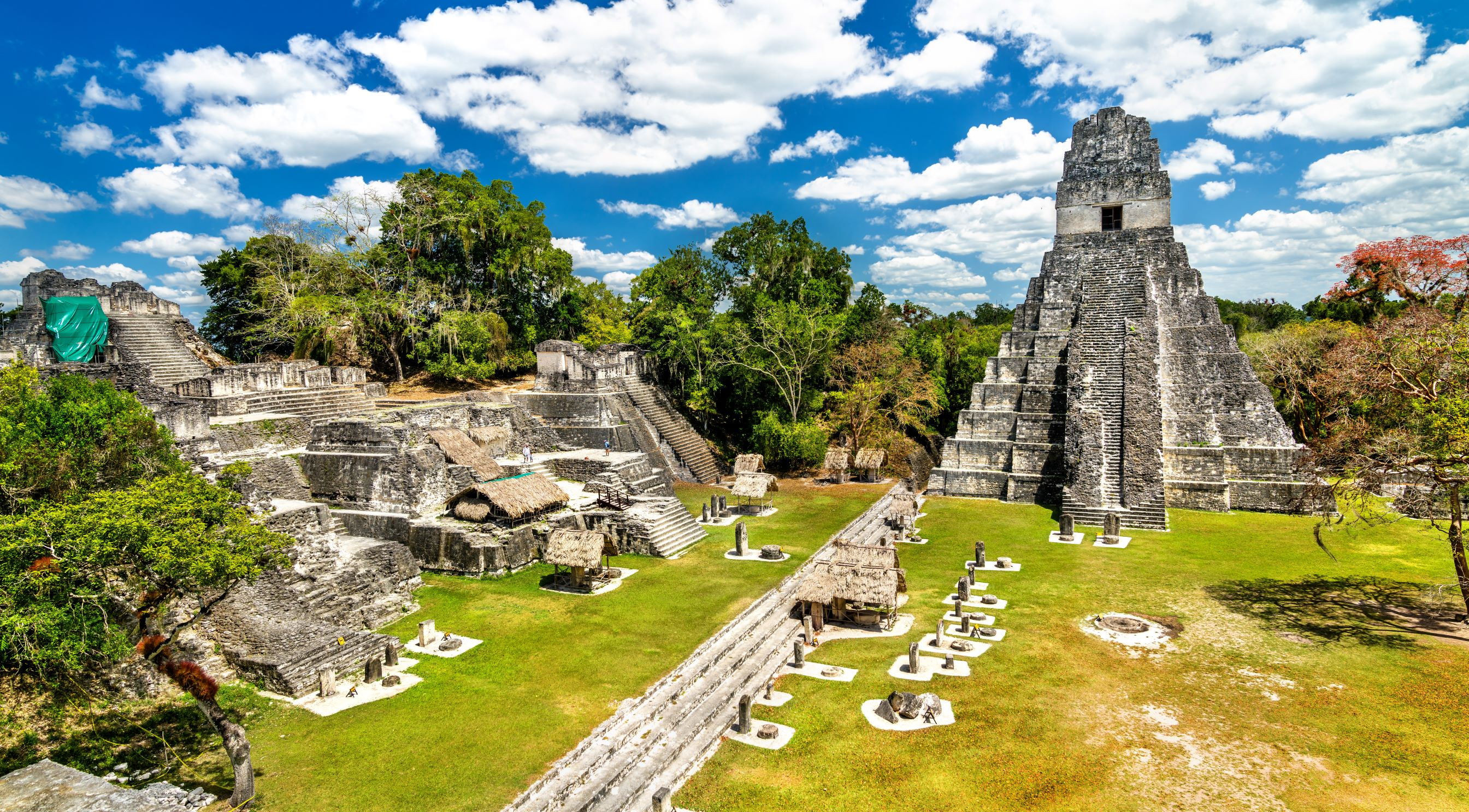 Temple of the Great Jaguar at Tikal in Guatemala