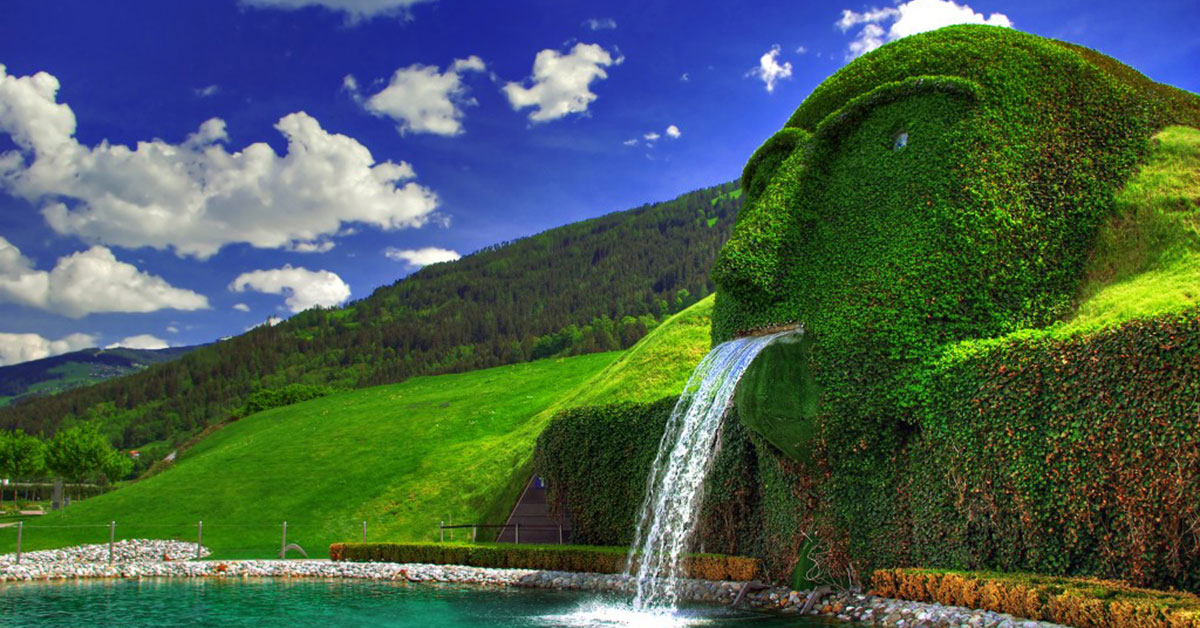 Waterfall at Swarovski, Austria