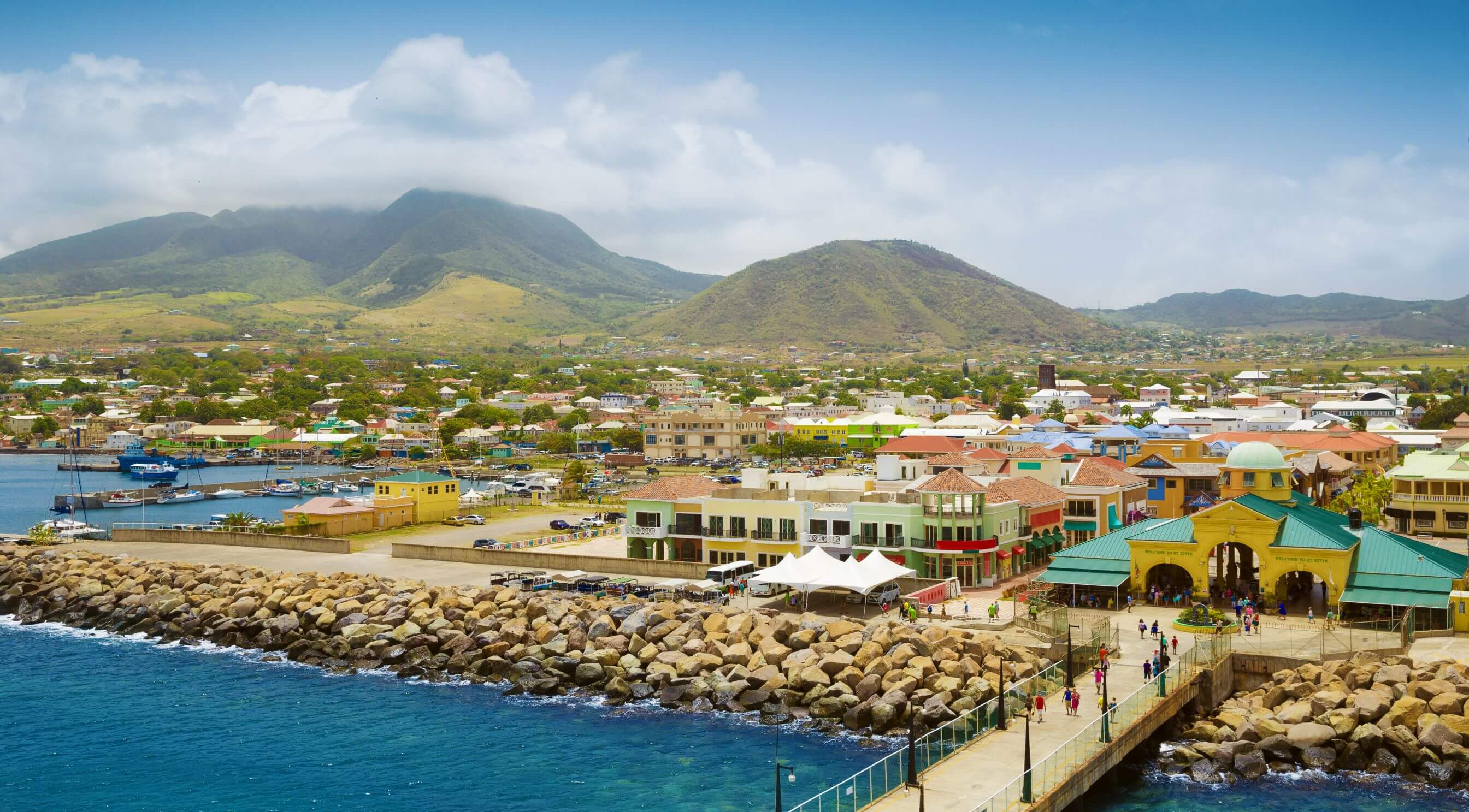 Port Zante in Basseterrre town, St. Kitts and Nevis